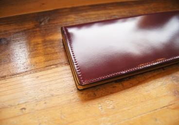 通しマチ長財布(プラチナボルドー)