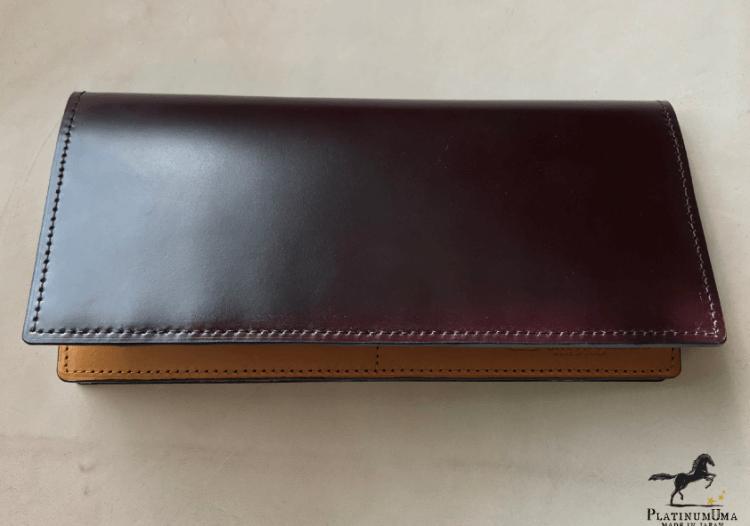 通しマチ長財布 レガシーキング(プラチナボルドー)